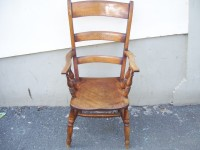 Antique Polished Farmhouse Country Chair