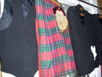 2 x Traditional Scottish Tartan Outfits