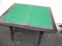 Edwardian Ebonised Games Table