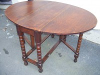 Victorian Oak Gate Leg Table