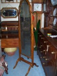 Vintage Walnut Cheval Mirror