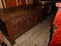 Antique Oak 18th Century Coffer