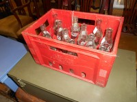 Vintage Coke Bottles and Case