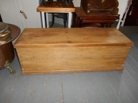 Antique Stripped Pine Blanket Box
