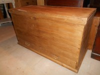 Antique Stripped Pine Mule Chest