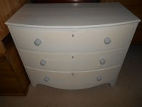 Shabby Chic Georgian Bow-fronted Chest of Drawers