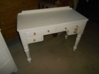 Victorian Shabby Chic Kneehole Desk