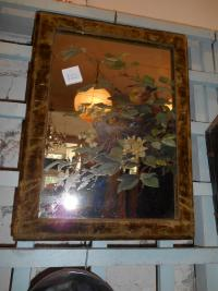 Antique Victorian Felt Mirror
