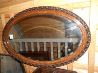 Scumbled Oval Mirror