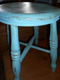 Antique Victorian Shabby Chic Stool