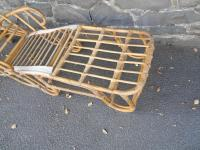 Vintage Bamboo & Rattan Lounger