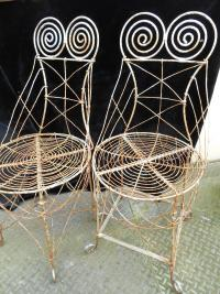 Pair of Victorian Wire Work Chairs