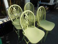 4 Shabby Chic Windsor Chairs