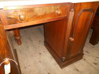 Antique Victorian Rosewood Kneehole Desk