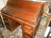 Victorian Oak Roll Top Desk
