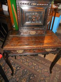 Carved Oak Ladies Desk
