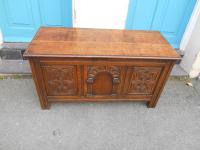 Antique Oak Blanket Box