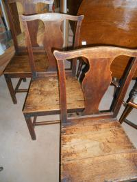 Set of 7 Oak Antique Farmhouse Chairs