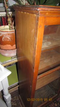 Polished Pine Glass Cabinet