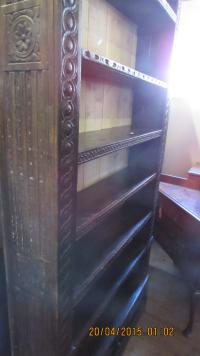 Victorian Carved Oak Bookcase