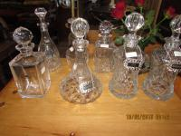 Various Cutglass Decanters