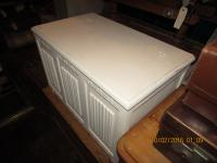 Shabby Chic Linenfold Blanket Chest