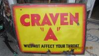 CRAVEN  A ENAMEL SIGN