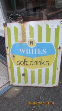 R WHITES ENAMEL SIGN