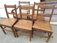 TALRWN  SET x 5 COUNTRY  CHAIRS