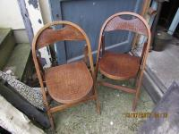 PAIR CROCODILE FOLD UP CHAIRS