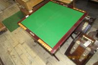 EDWARDIAN FOLD UP GAMES TABLE