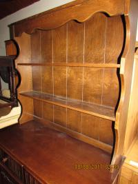 SOLID  OAK  POLISHED  DRESSER