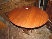 POLISHED  OAK PEMBROKE  TABLE