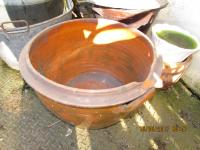 SOUTH  WALES  TERRACOTTA  DAIRY BOWL