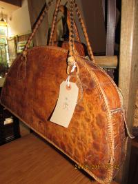 VINTAGE  ALLIGATOR  HANDBAG