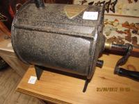 ANTIQUE  METAL  BUTTER CHURN