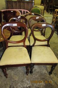 SET OF 8 SPOON BACK VICTORIAN  CHAIRS
