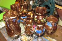 COLLECTION OF LUSTRE JUGS