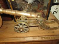 PAIR OF BRASS CANONS