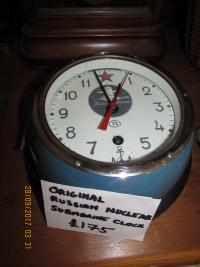 GENUINE  RUSSIAN  NUCLEAR  SUBMARINE  CLOCK