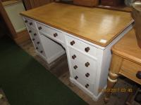 Shabby Chic Kneehole Desk Victorian