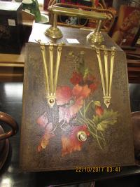 Coal Box Brass and Tin Decorated