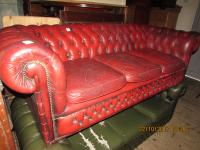 Chesterfield 3 Seater Leather Settee