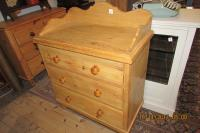 Good Pine Splashback Chest Of Drawers