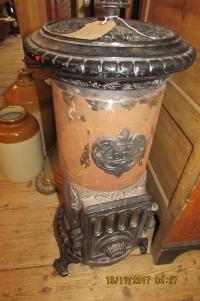 CAST IRON BELGIAN ENAMEL HEATER