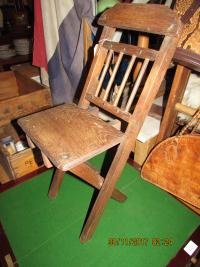 VINTAGE  FOLDING  TEDDY  CHAIR