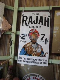 RAJAH  ENAMEL  SIGN